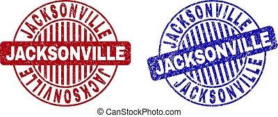 grunge, selo, redondo, textured, selos, jacksonville