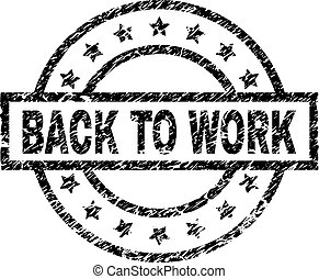 grunge, selo, trabalho, costas, selo, textured