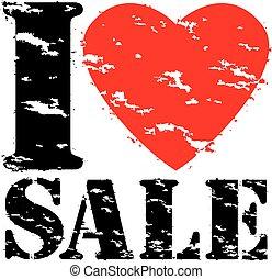 grunge, selo, venda, ilustração, borracha, vetorial, amor