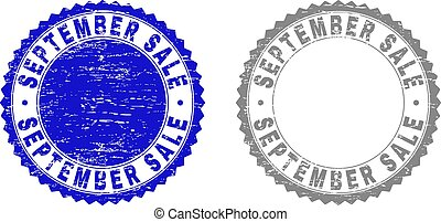 Grunge SEPTEMBER SALE Textured Stamp Seals