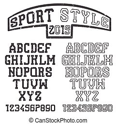 grunge serif font in the retro style of sport