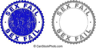 Grunge SEX FAIL Textured Stamps - Grunge SEX FAIL stamp...
