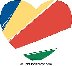 Grunge Seychelles flag
