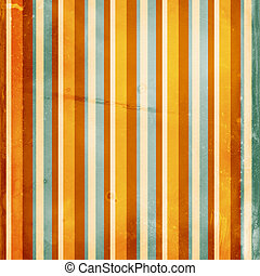 Grunge shabby striped background in orange and blue