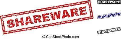 Grunge SHAREWARE Scratched Rectangle Watermarks - Grunge ...