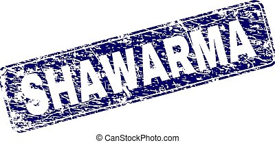 Grunge SHAWARMA Framed Rounded Rectangle Stamp