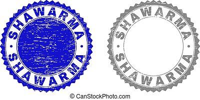 Grunge SHAWARMA Textured Stamp Seals