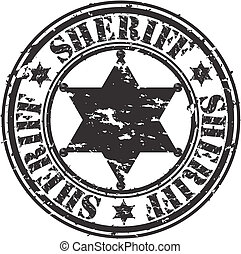 Grunge sheriff star, vector