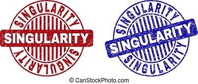 Grunge SINGULARITY Scratched Round Stamp Seals