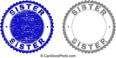 Grunge SISTER Textured Watermarks