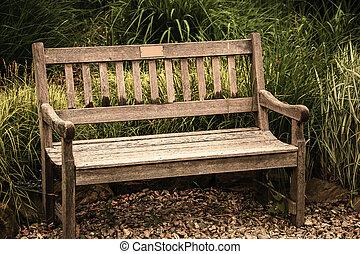 grunge, sitting., solamente, vacante, soledad, calmness., ...
