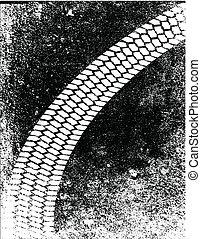 Grunge Skid Mark