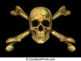 grunge, skull crossbones
