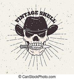 grunge skull t shirt design