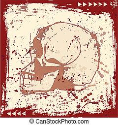 Grunge Skull