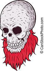 grunge skull with beard