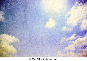 Grunge sky scape background - Clouds in the grungy sky in ...