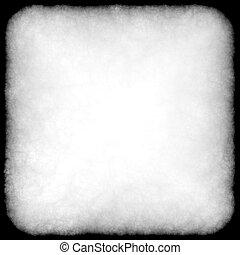 Grunge frame with dark black burnt edges