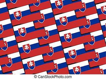 Grunge SLOVAKIA flag or banner vector illustration