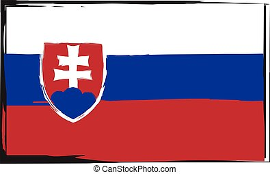 Grunge SLOVAKIA flag or banner vector illustration