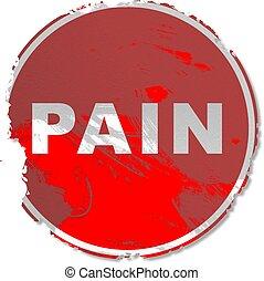 grunge, smärta, underteckna