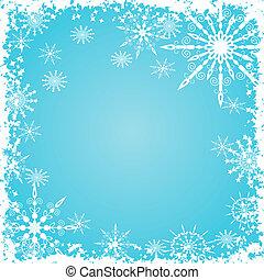 grunge, snowflakes, achtergrond, vector
