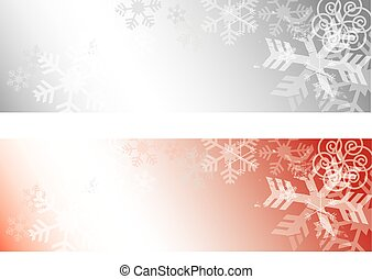 Grunge Snowflakes background baners