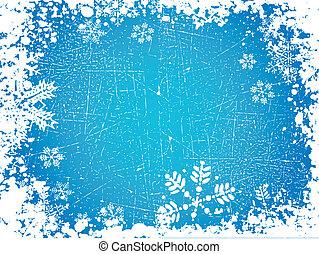 Grunge snowflakes - Grunge style background of snowflakes
