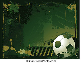 grunge soccer background