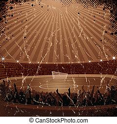 Grunge Soccer Background or Poster.