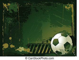 grunge, soccer, baggrund