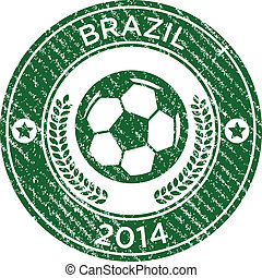 Grunge Soccer Brazil Emblem
