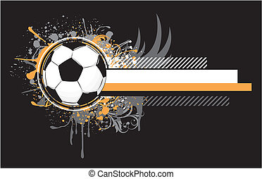 grunge soccer design - soccer related composition, vector...