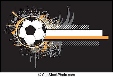 grunge soccer design - soccer related composition, vector ...