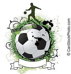 grunge, soccer, konstruktion