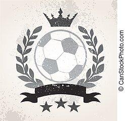 Grunge Soccer laurel weath
