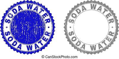 Grunge SODA WATER Scratched Watermarks