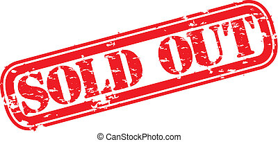 Grunge sold out rubber stamp, vecto