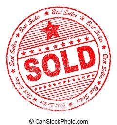 Grunge sold rubber stamp