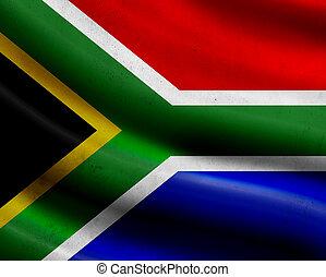 Grunge South Africa flag