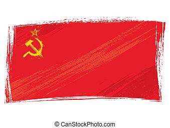 Grunge Soviet Union flag
