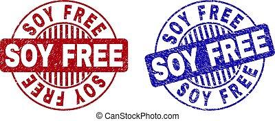 Grunge SOY FREE Textured Round Stamp Seals