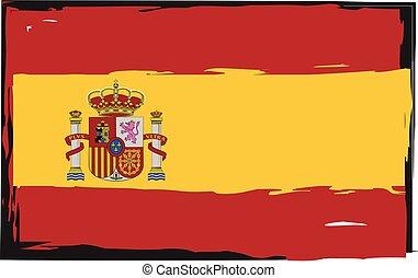 Grunge SPAIN flag or banner