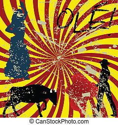 Grunge Spanish concept - Grimge Spanish concept