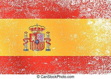 Grunge Spanish Flag