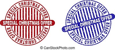 Grunge SPECIAL CHRISTMAS OFFER Textured Round Stamp Seals