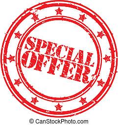 Grunge special offer rubber stamp,