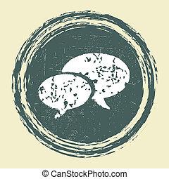 grunge speech bubble design