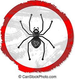 grunge spider sign