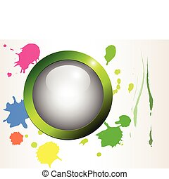 Grunge splash background - Colorful grunge splash...